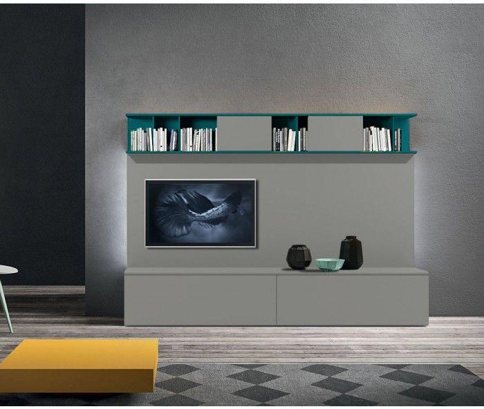 Wand Petrol novamobili tv wohnwand about 25 tvs minimal and wand