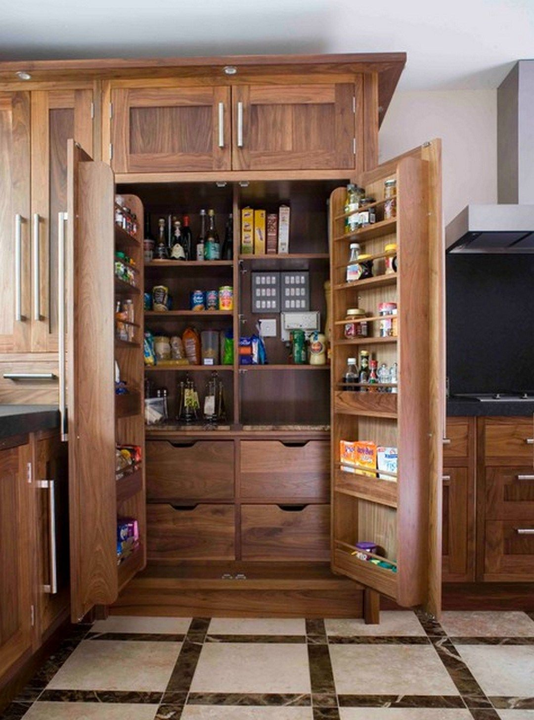 37 pantry cabinet ideas that solve kitchen storage problems 19 pantry design kitchen pantry on kitchen organization cabinet id=93978