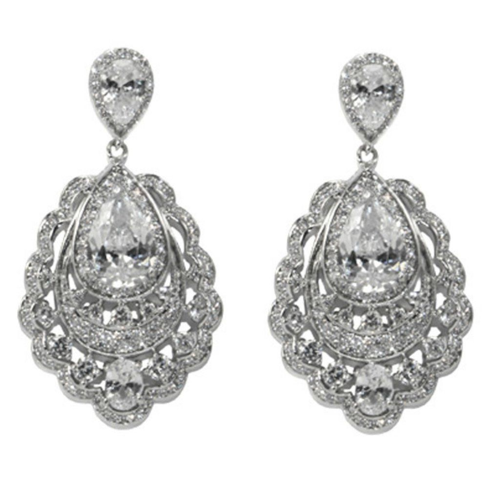 Capelta cz pear cluster drop chandelier earrings cubic zirconia capelta cz pear cluster drop chandelier earrings cubic zirconia arubaitofo Choice Image