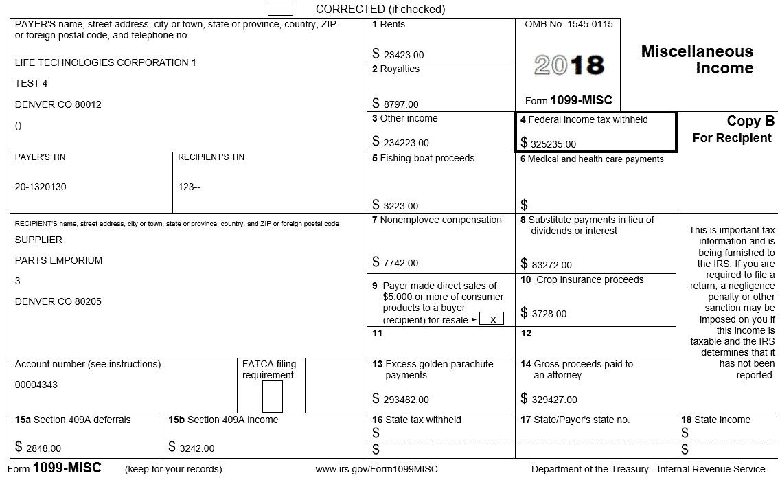 Form 1099 Misc Using The G L Method Printable Chart Template Printable Templates Free form 1099 misc template