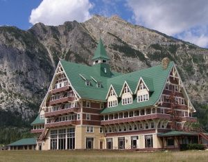 Prince Of Wales Hotel In Waterton National Park Alberta Canada Is A Part