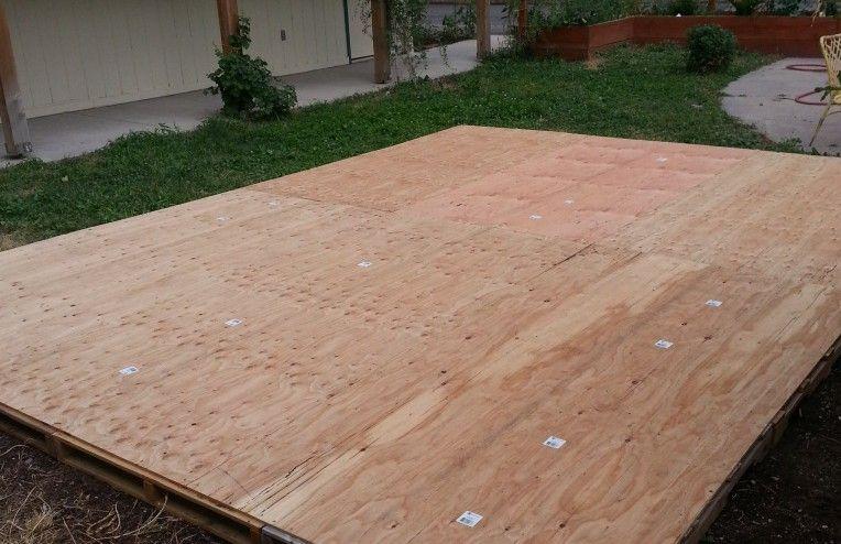 Diy stationary pallet plywood dance floor dance floor