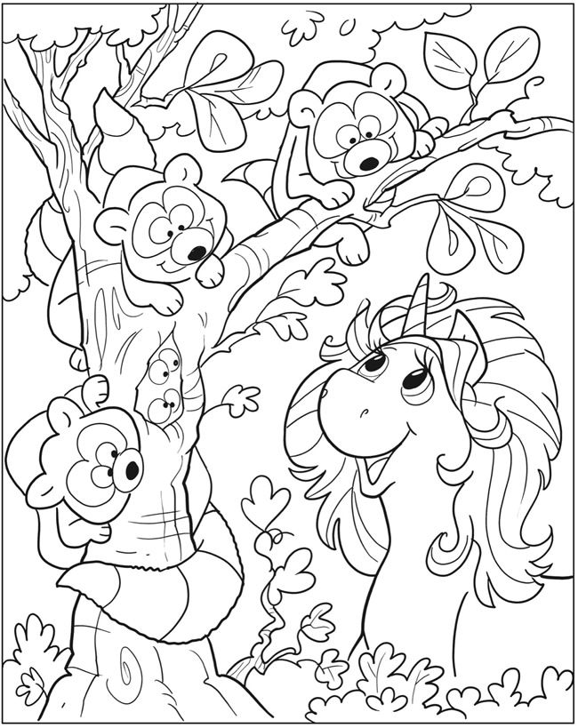 Unicorn Fun Coloring Book Dover Publications | Coloring pages 2nd ...