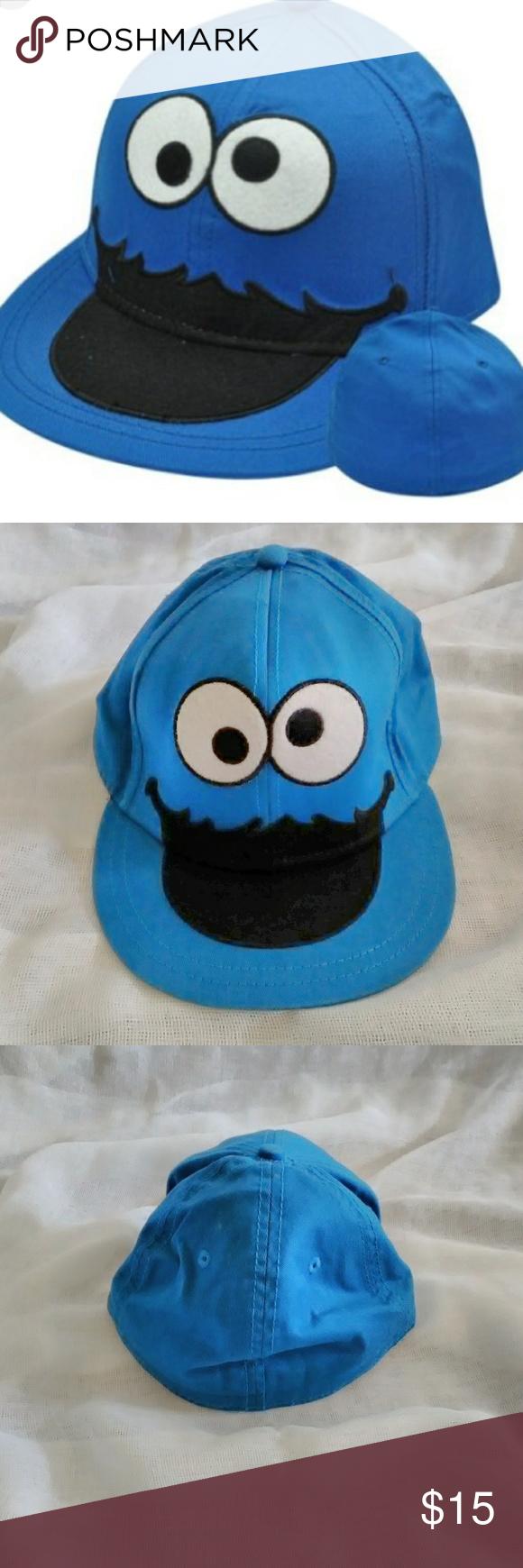 31623768240cc Cookie Monster Flat bill hat EUC Cookie Monster flat bill hat. Size  Small Medium Sesame Street Accessories Hats