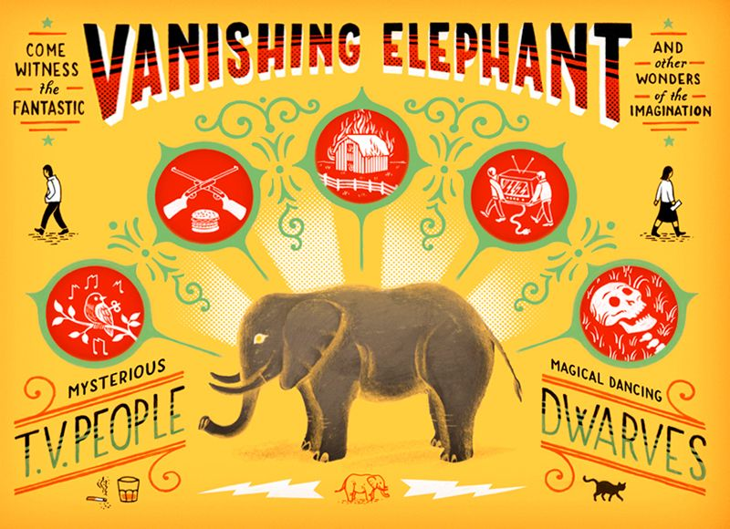 The Vanishing Elephant poster by Jim Tierney