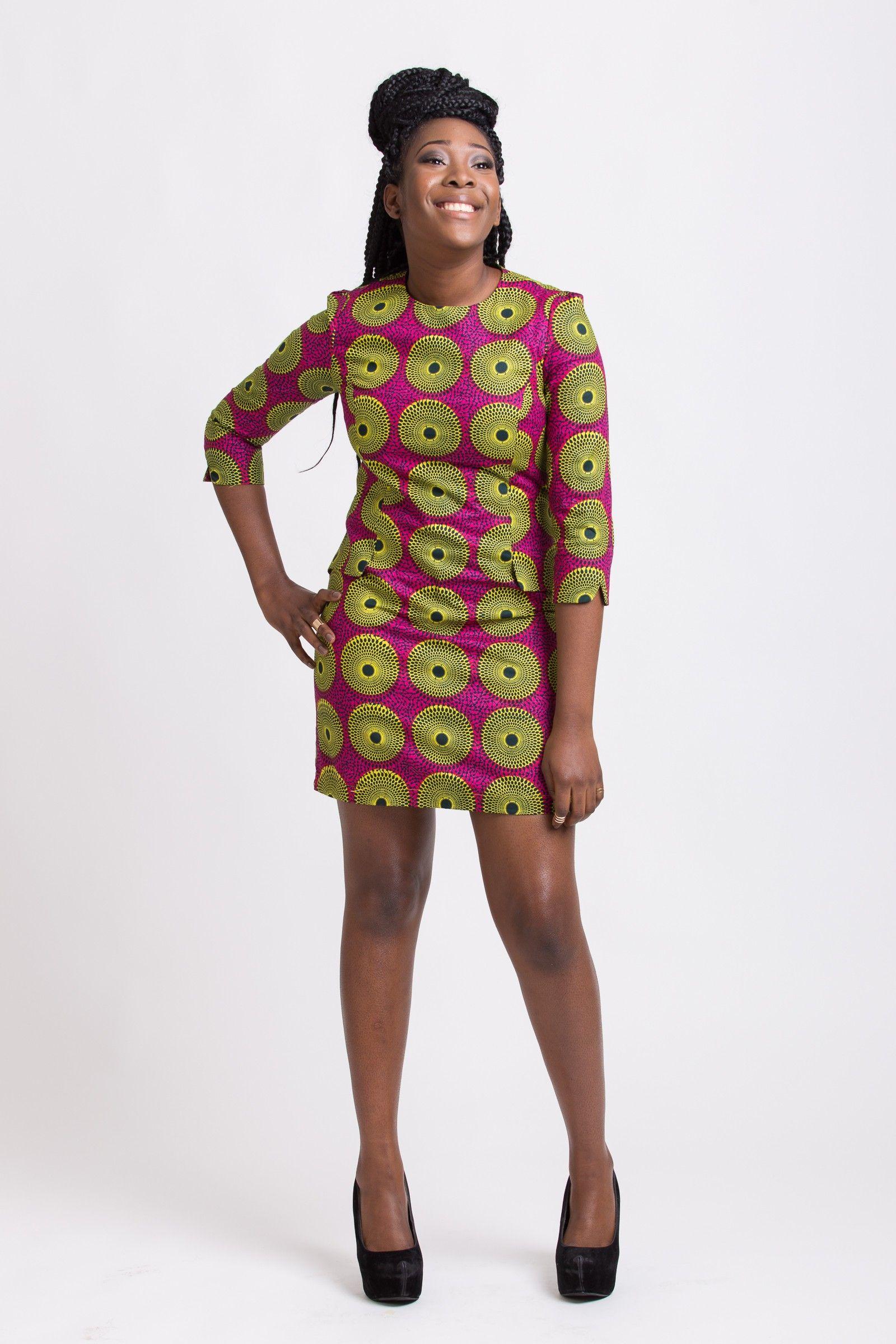 robe en tissu wax model pinterest robe droite pagne et combinaison africaine. Black Bedroom Furniture Sets. Home Design Ideas