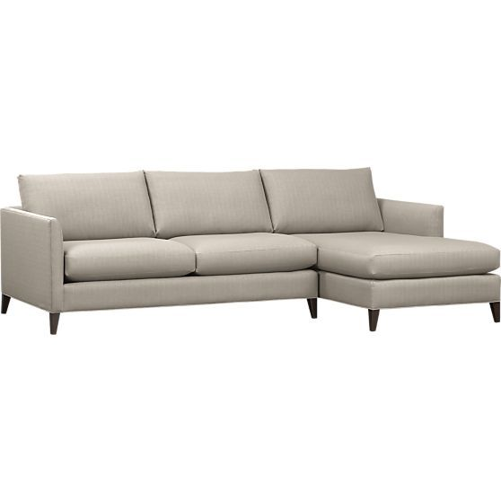 Klyne 2-Piece Sectional (Right Arm Chaise, Left Arm Apartment Sofa) in Sectional Sofas | Crate and Barrel