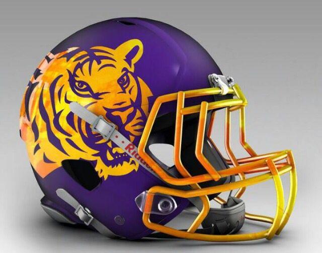 Future Lsu Football Helmet Football Helmets Football Helmet Design Lsu Tigers Football