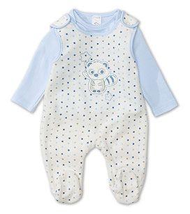 Babies Gr 50 92 Strampler Set In Blau Weiss Mode Gunstig Online Kaufen C A Weisse Mode Strampler Babymode