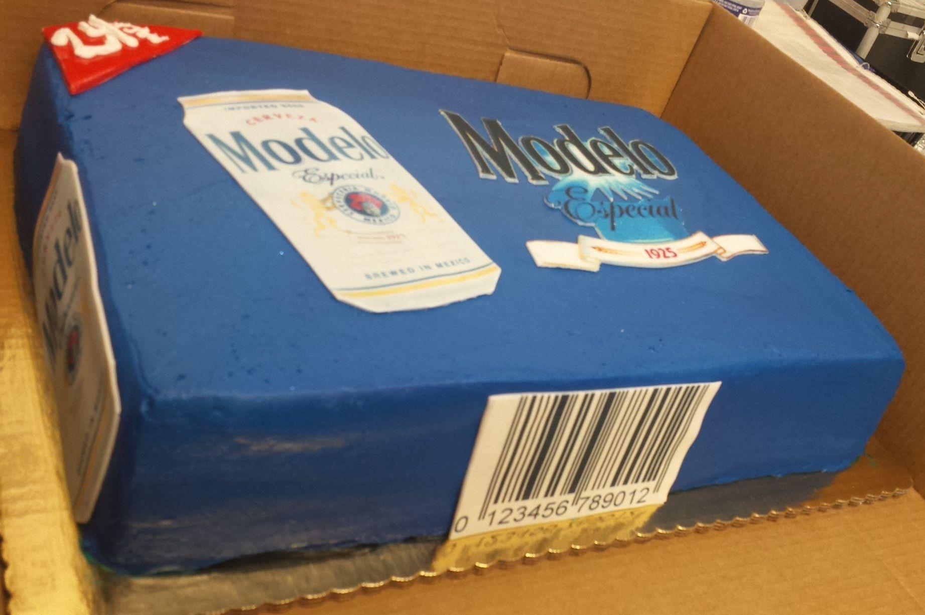 Calumet Bakery Beer Case Modelo Cake Adult Themed Cakes