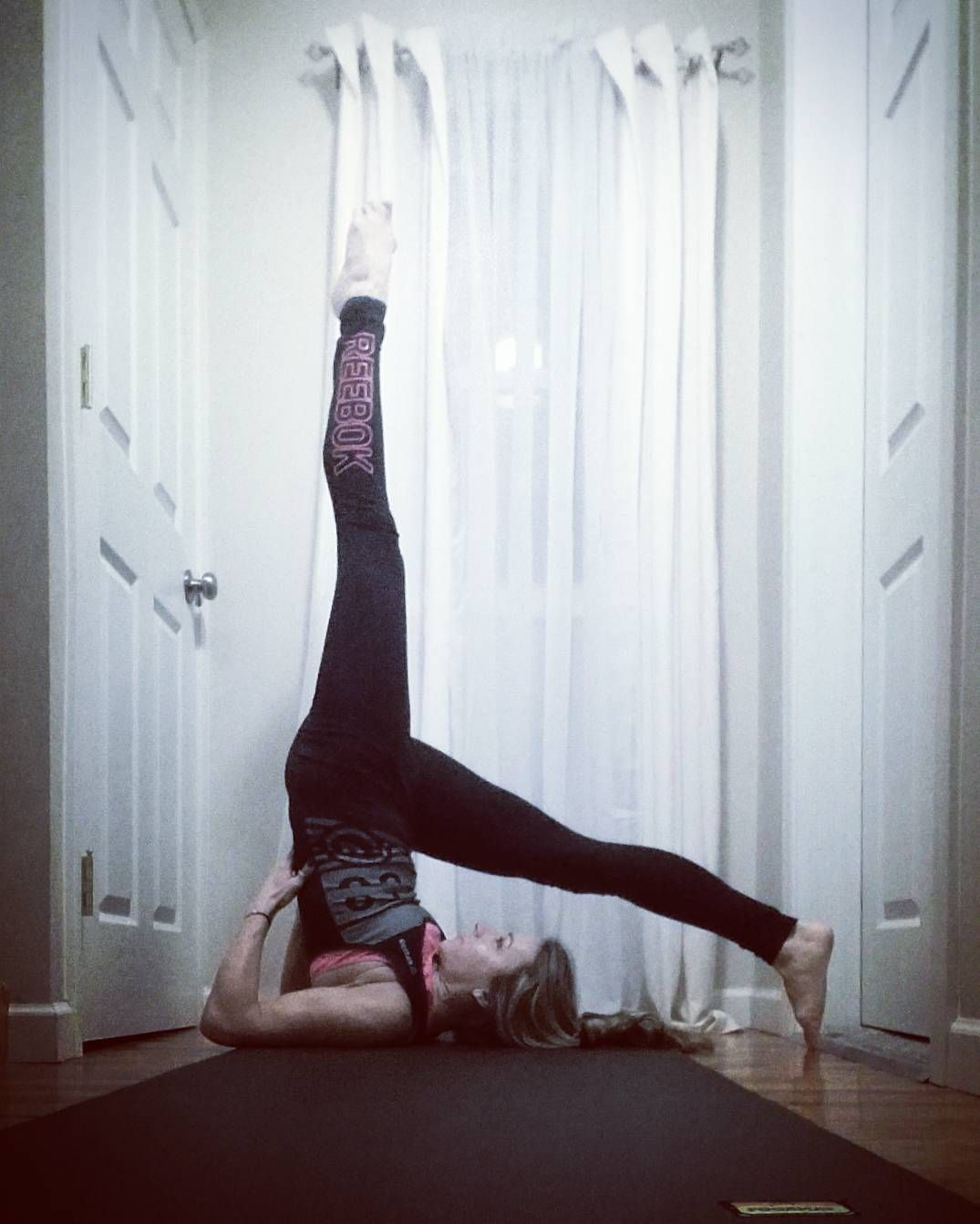 """Joining @k_camms & @littlefishyho  Day 11: #CrazySexyYoga March One-Legged Supported Whole Body Pose 
