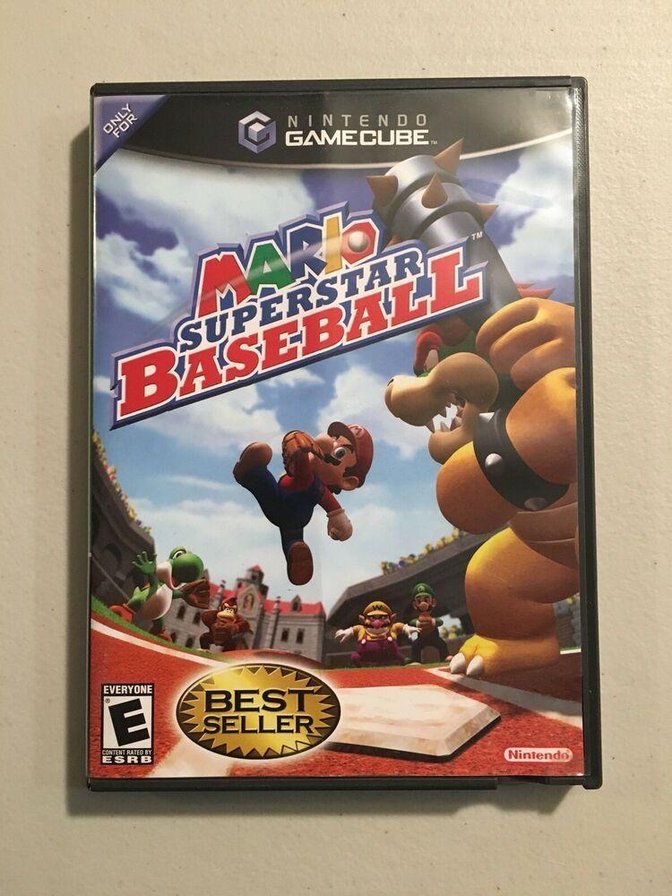 Mario Superstar Baseball Nintendo GameCube Disc, Manual
