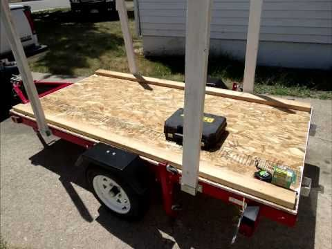 How To Build A Harbor Freight Trailer 1200lb Trailer Folding Campers Camping Trailer