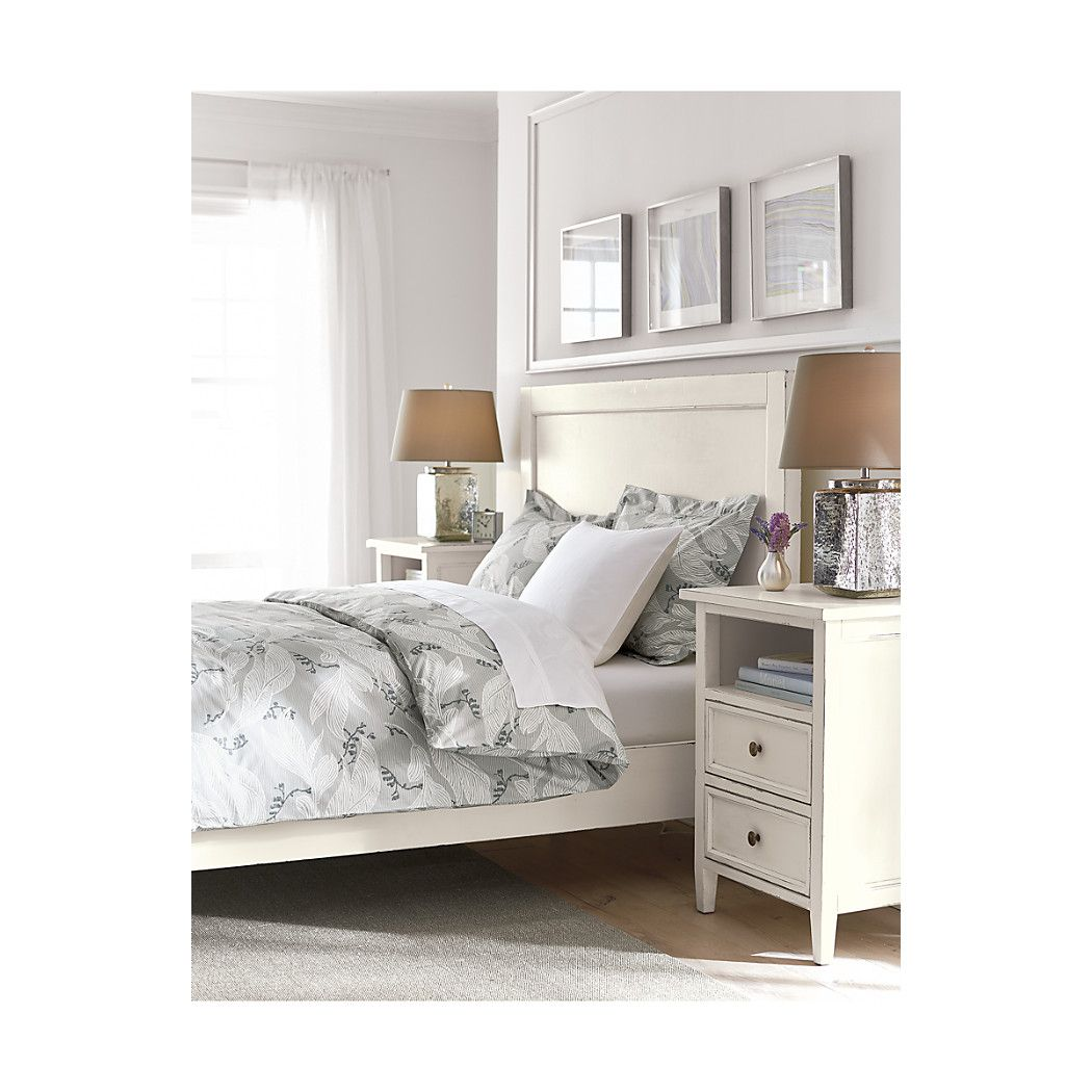 Shop Harbor Queen Bed.  The Harbor White Queen Bed is a Crate and Barrel exclusive.