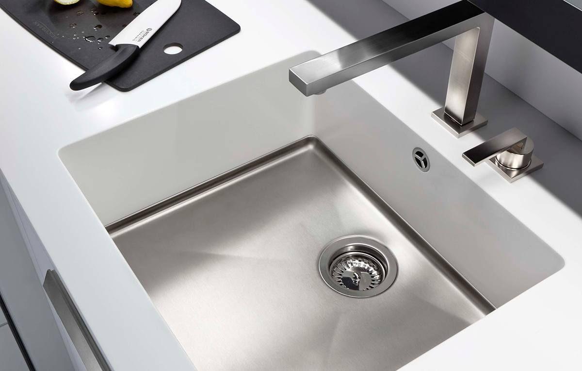 Corian and Stainless Steel Sink Detail | Corian | Pinterest | Corian ...