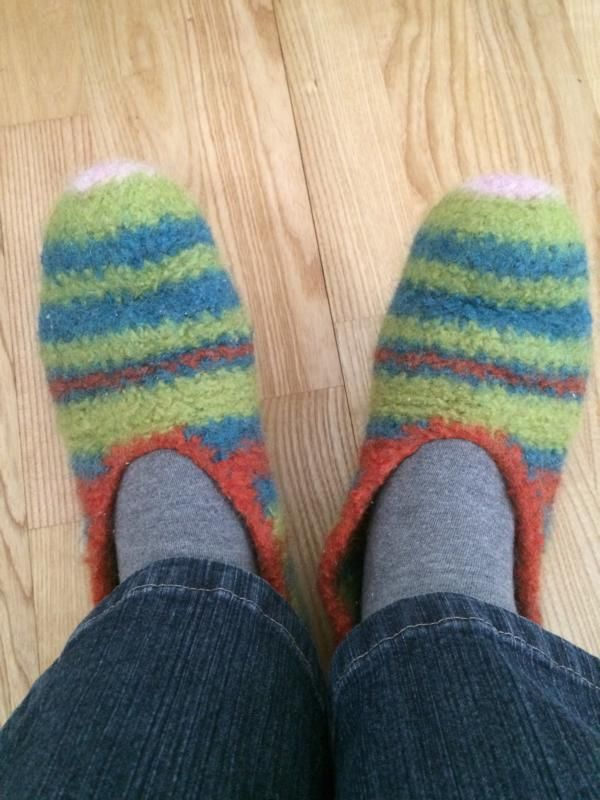 Anleitung Erfahrungsbericht Hausschuhe Häkeln Filzen Crochet