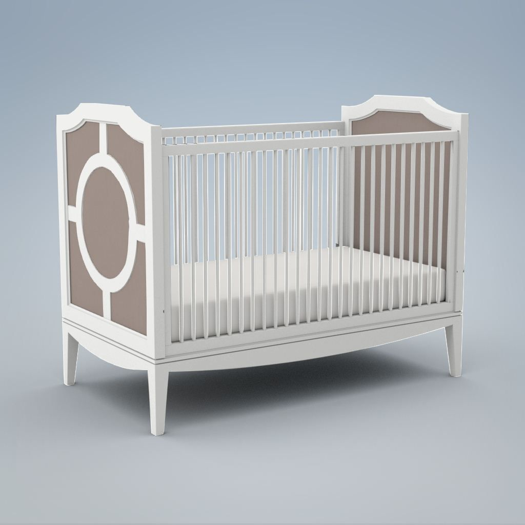 Ducduc Product Regency Crib White With Silver On Maple Glaze