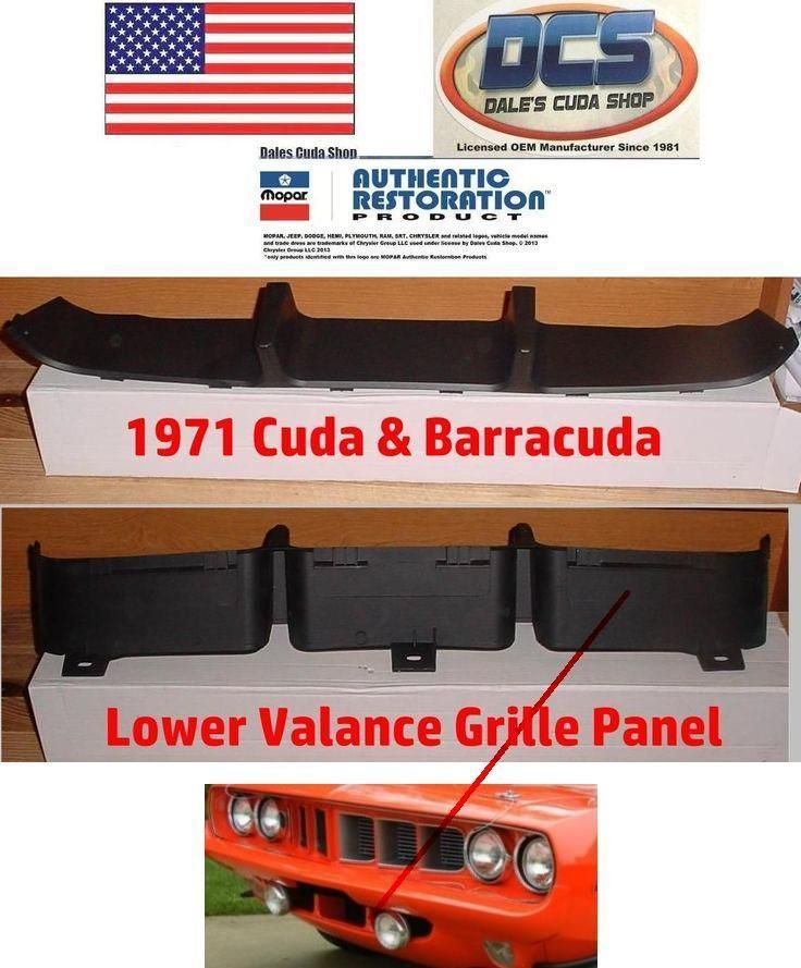 For Plymouth Barracuda 1970-1974 Auto Metal Direct Front Bumper Valance