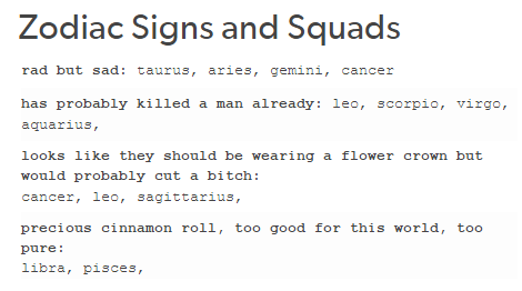 zodiac signs tumblr text posts - Google Search | All About