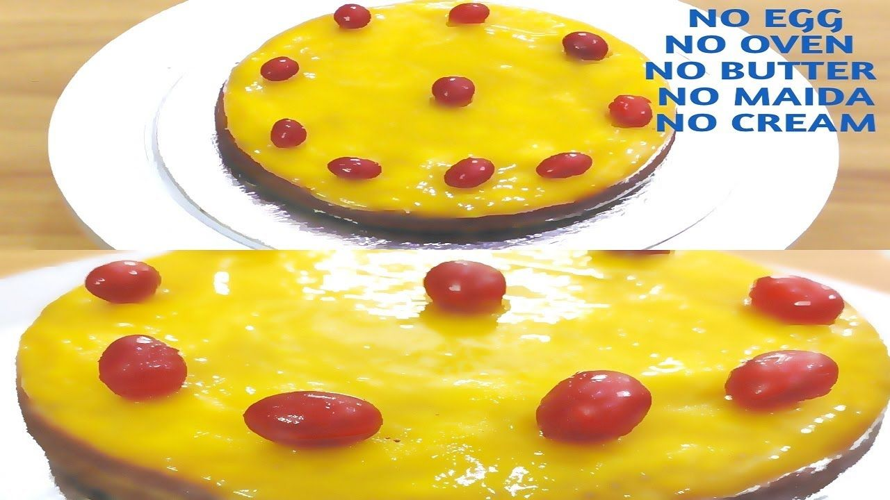 Mango Glaze Cake In Lock Down Without Cream Beater Condensed Milk I No In 2020 Mango Cake Cake Recipes Cake