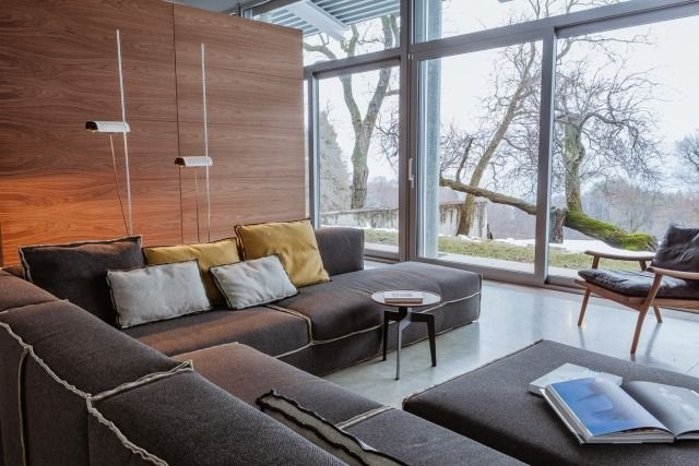 Wohnlandschaft polstermöbel-grau lounge-feeling exklusiver ...
