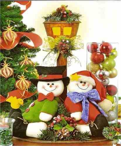 Patr n centro de mesa navide o navidad pinterest - Adornos de mesa navidenos ...