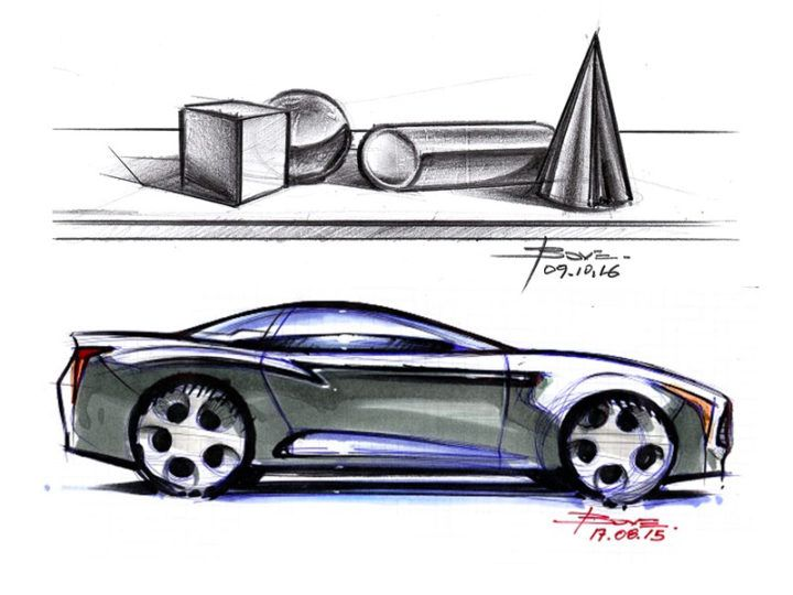 "Tutorial: Basic shapes and reflections on car sketches by Luciano Bove http://www.lucianobove.com/2016/10/basic-shapes-reflections-on-car-sketches.html/ From Car ""Design Sketching Tips 2"" $13 ebook"