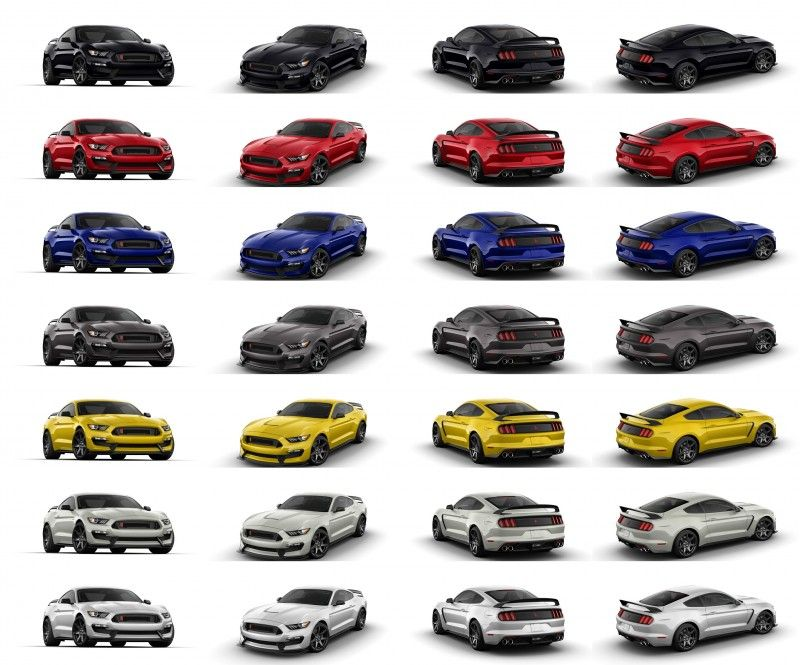 2016 Mustang Colors >> 2016 Shelby Ford Mustang Gt350r Colors My Style
