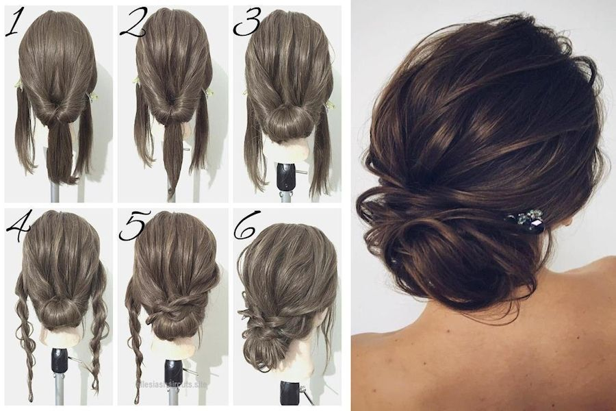 11++ Easy updos for short layered hair ideas in 2021