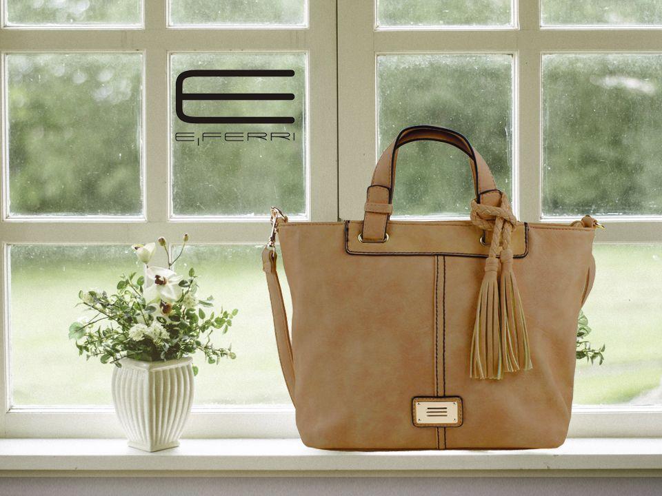 Bolso marrón con detalle en el asa de E.Ferri   Bolsos