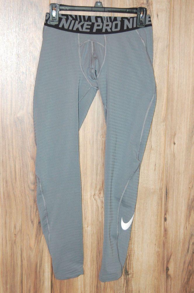 5484240ada Nike Pro Warm Tights XL Big Kids Boys Athletic Training Gray 804599 ...