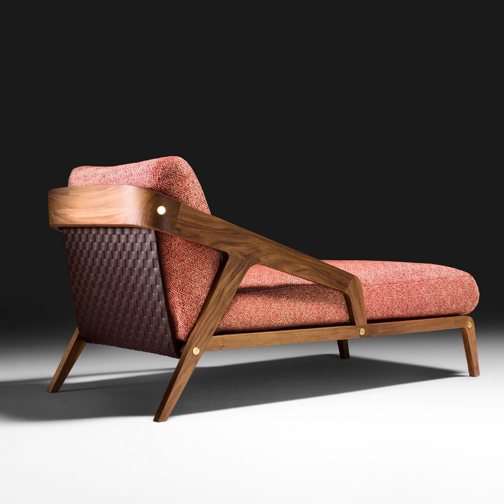 Chaiselongue Modern Contemporary Walnut Italian Designer Chaise Longue In 2019