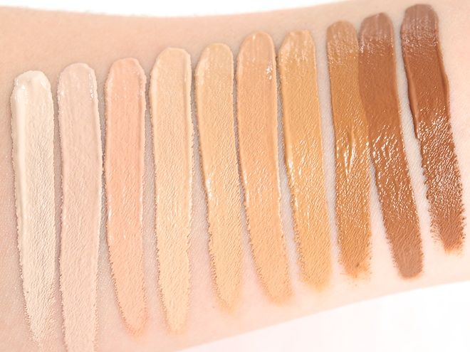 NARS Radiant Creamy Concealers Chantilly (Light 1) on the far left ...