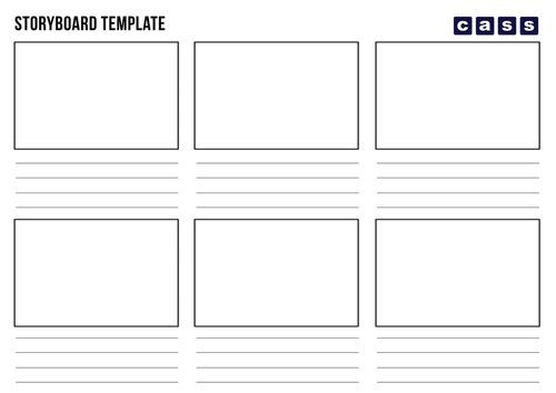 Storyboard Template Pdf 2019 Collection Pinterest Storyboard