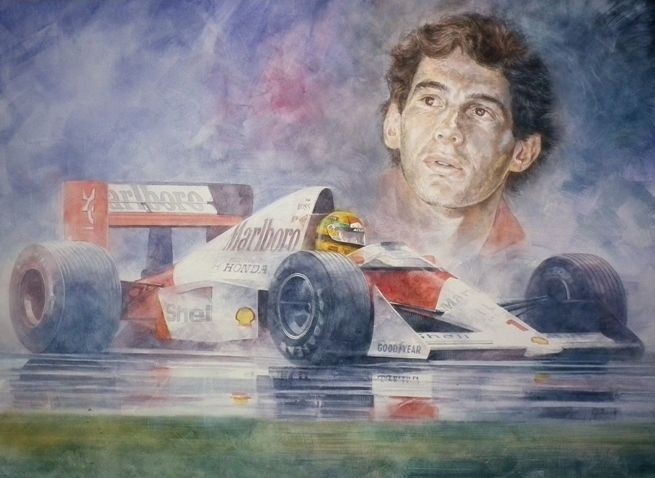 Reflections In The Rain Ayrton Senna By Jeremy Mallard Http