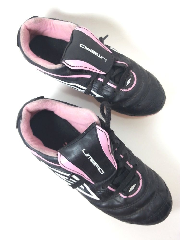 ff63bc238 Umbro Soccer Cleats Girls Youth Size 4 Black Pink White Athletic Shoes # Umbro