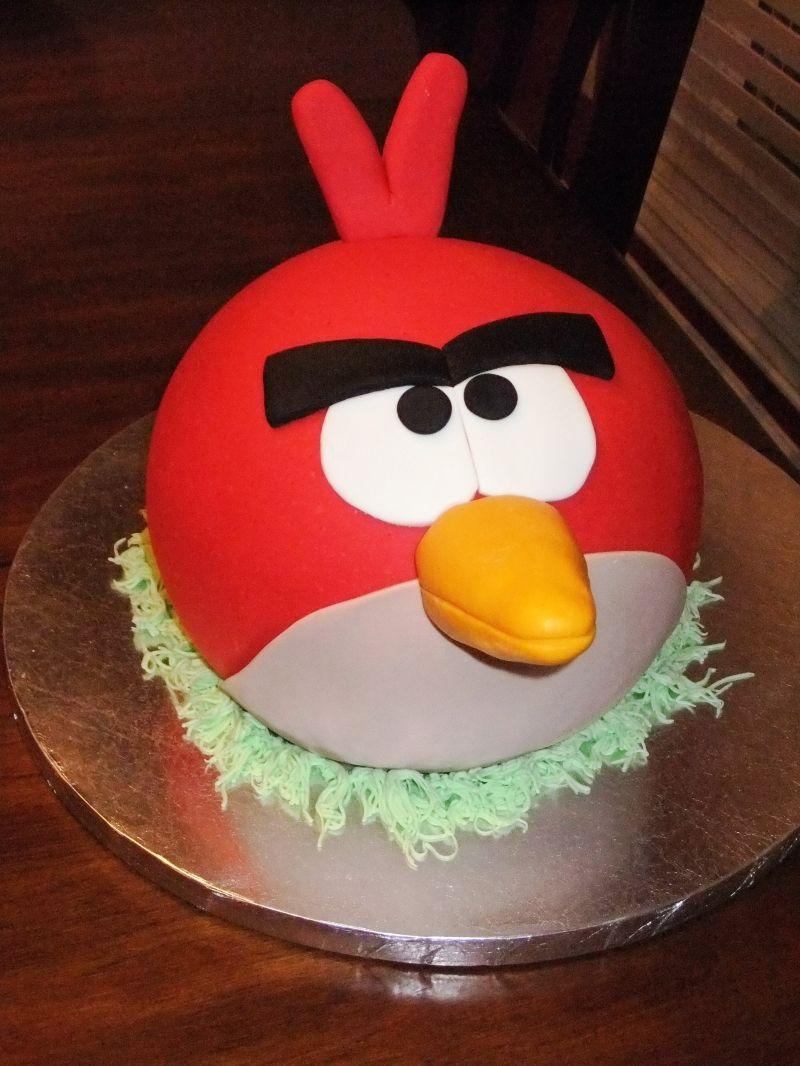 Angry Bird Cake Using Wilton Dome Pan Cake Angry Birds