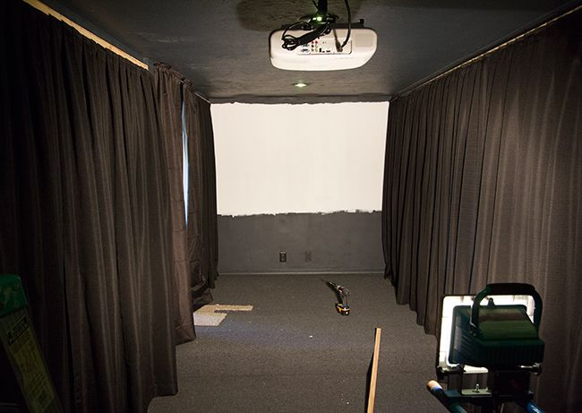 Black Curtains On Projection Screen Google Search Home Theater
