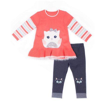 cbf94c412 Owl Peplum Sweater   Knit Denim Jeans