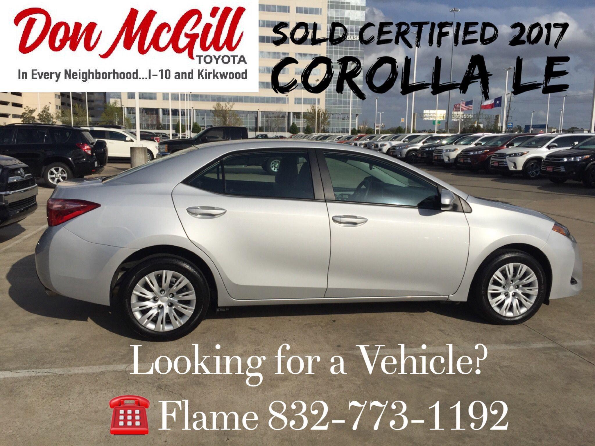 Don McGill Toyota 11800 Katy Freeway Houston, TX 77079 Call Or Text Flame @  832