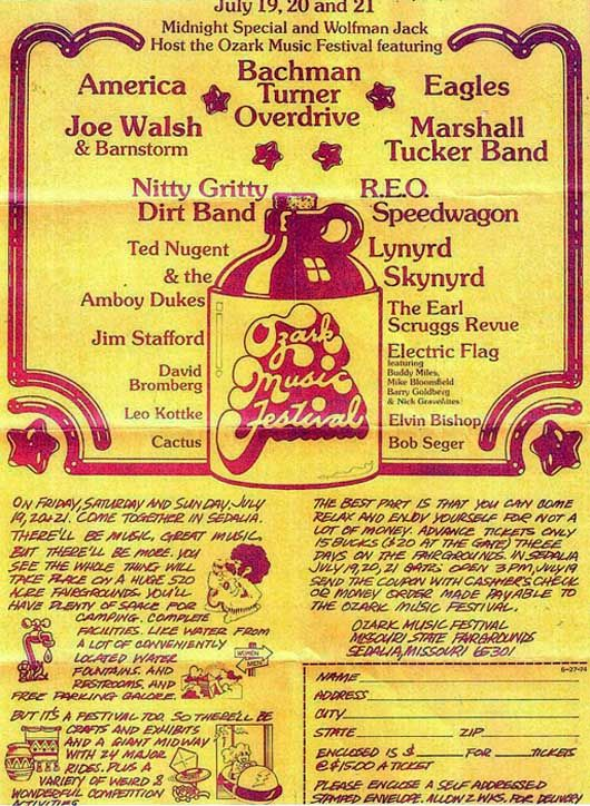 The 1974 Ozark Music Festival Was It Bigger Than Woodstock With