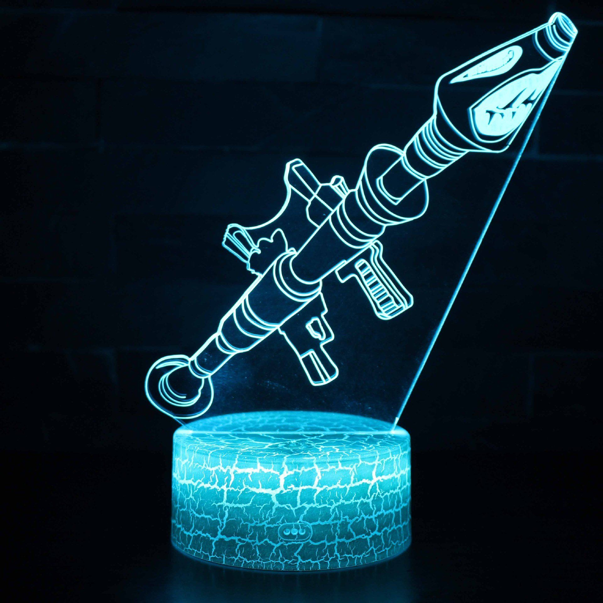Fortnite Waffe 3d Illusion Lampe Tischlampe Nachtlicht Stimmnungslicht Fur Kinder Geschenk Mood Lamps 3d Led Night Light Led Night Light