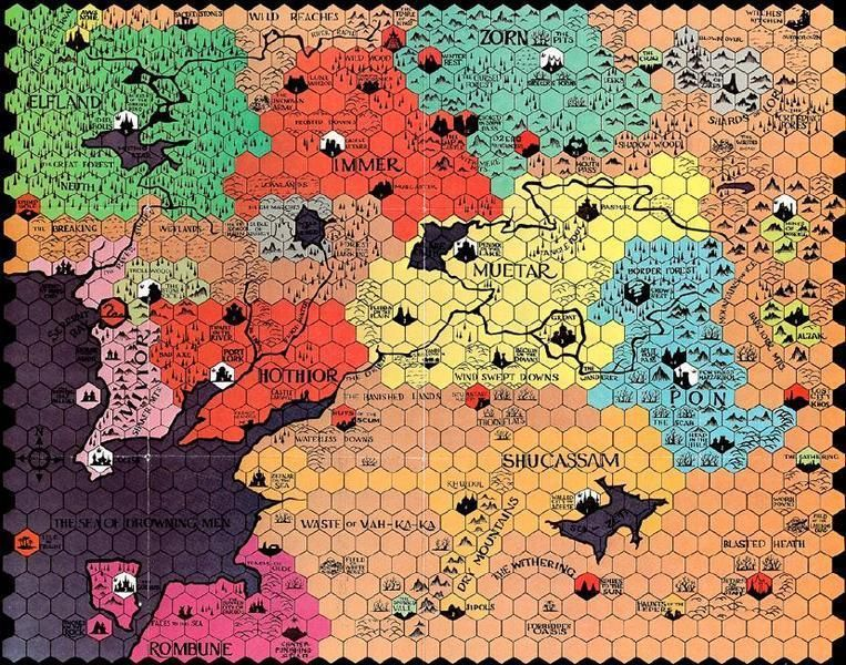 This board from the 1970s game Divine Right uses a great hexagonal - new apple app world map