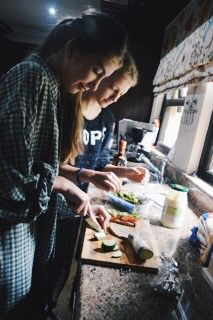 Cooking With Best Friend Photo Shoot Tumblr
