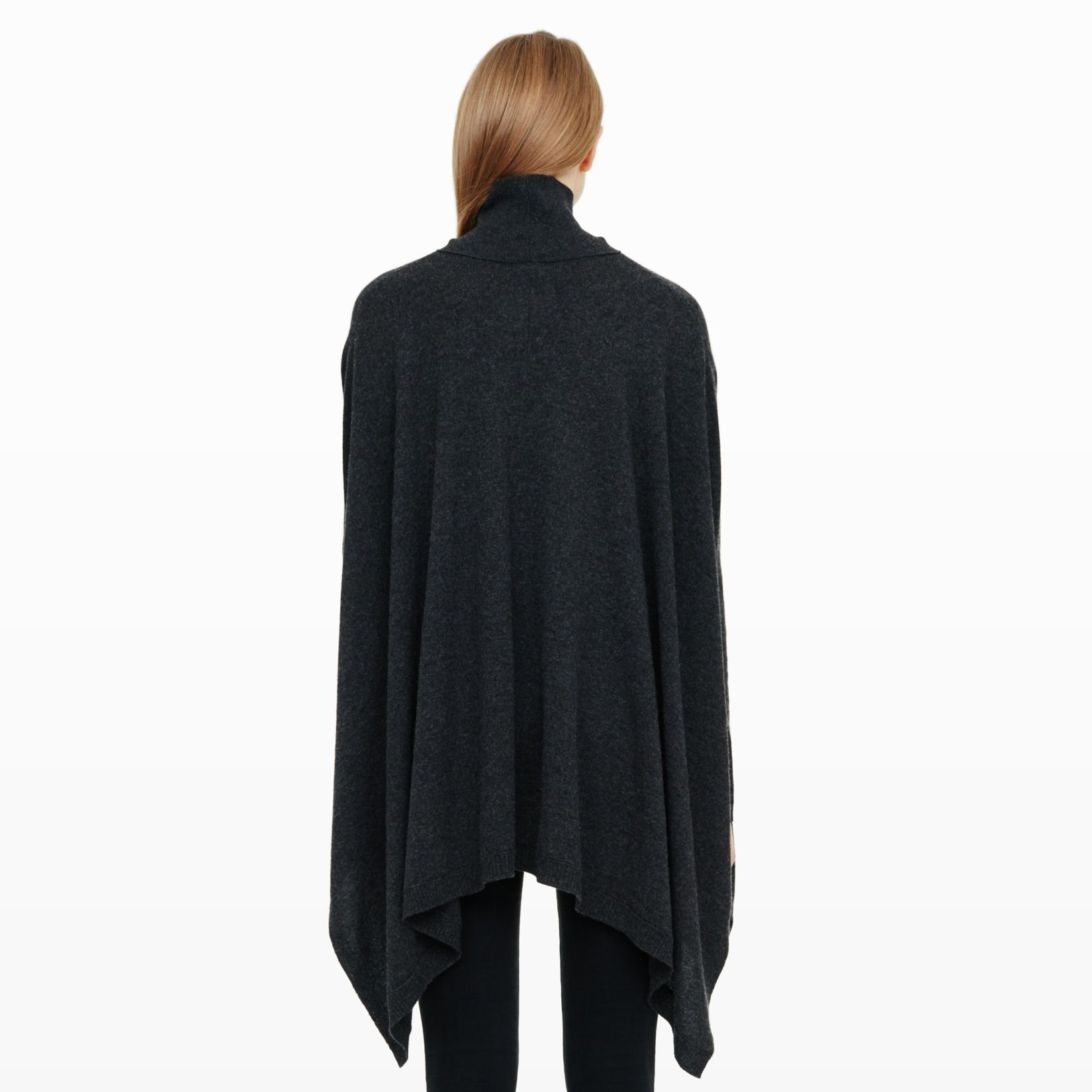 Lyda Cashmere Poncho - Turtlenecks Sweaters at Club Monaco