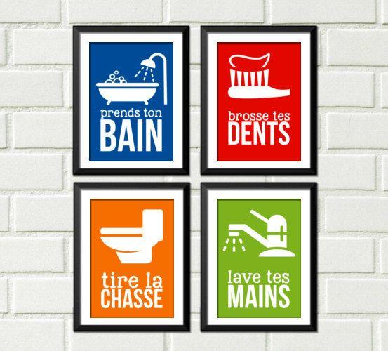 Décoration salle de bain, enfant décor, décoration maison, home