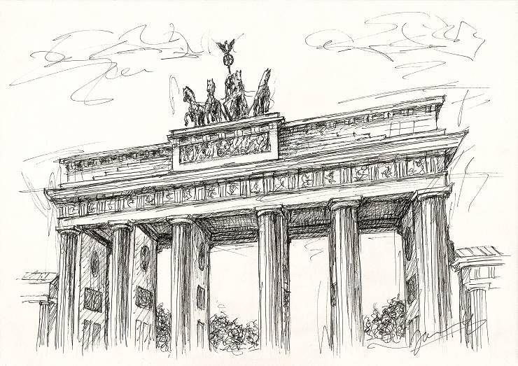Jannys Art Scribble Art Brandenburger Tor 1 In 2020 Kunst Ideen Wasserfarben Kunst Malerei