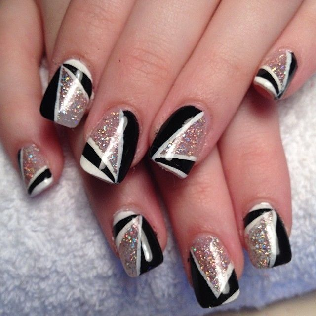 Black and white glitter nails pictures photos and images for black and white glitter nails nails nail pretty nails nail art glitter nails nail ideas nail designs prinsesfo Choice Image
