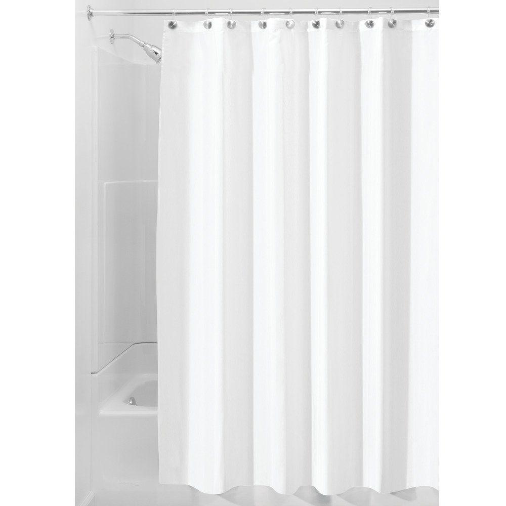Amazon InterDesign 96 Inch Fabric Waterproof Extra Long Shower Curtain Liner White Home Kitchen