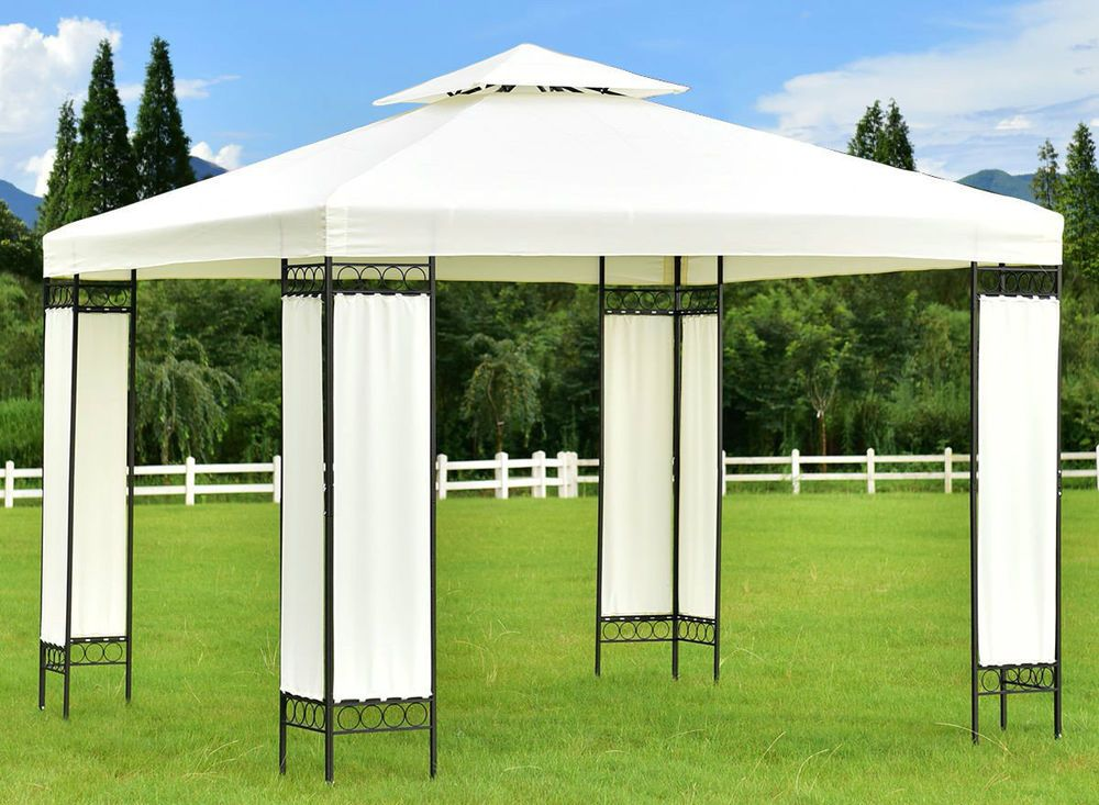 10 X 10 Party Tent Gazebo Canopy Wedding Event Screen Legs Rentals Steel Frame Evirtualdeals Gazebo Canopy Gazebo Patio Gazebo